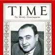 Al Capone fait la couverture du magazine TIME du 24 mars 1930 (image d'archives).