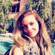 Clara Morgane de repos à  Marrakech  pour son anniversaire, le 25 janvier 2014.