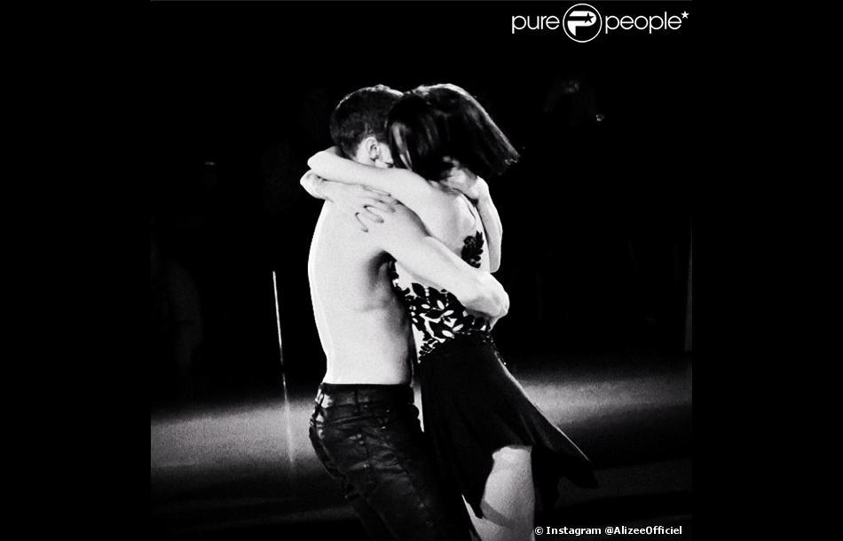 Alizée et Grégoire Lyonnet, le 14 février 2014. Photo prise dans le cadre de la tournée Danse avec les stars.