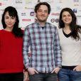 Karina Testa, Benjamin Bellecour et Stephanie Pasterkamp lors du 16e Festival des créations télévisuelles de Luchon, à Luchon, le 14 février 2014
