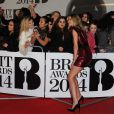 Rosie Huntington-Whiteley lors des Brit Awards 2014 à l'O2 Arena. Londres, le 19 février 2014.