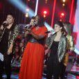 """EXCLUSIF - Nouvelle star 2014. Claudia, Yseult, Dana et Pauline - Finale de la """"Nouvelle Star 2014"""" sur D8, jeudi 20 février 2014."""