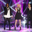 """EXCLUSIF - Nouvelle star 2014. Yseult, Sophie-Tith et Mathieu - Finale de la """"Nouvelle Star 2014"""" sur D8, jeudi 20 février 2014."""