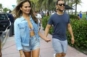 Chrissy Teigen : Sexy à Miami, avec John Legend et ses amies mannequins