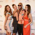 Chrissy Teigen, Nina Agdal, Flo Rida et Lily Aldridgeassistent à la soirée Club SI de Sports Illustrated Swimsuit au LIV. Miami, le 19 février 2014.