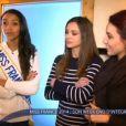 """Les Miss Flora Coquerel, Delphine Wespiser et Marine Lorphelin en week-end d'intégration. Extrait de l'émission """"Must Célébrité"""" du samedi 8 février."""