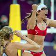 Misty May-Treanor lors de la finale du tournoi de beach-volley des Jeux olympiques de Londres, le 8 août 2012
