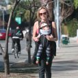 Exclusif - La belle Malin Akerman se balade avec son fils Sebastian à Hollywood, Le 21 février 2014