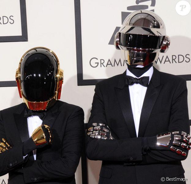 Daft Punk (Thomas Bangalter et Guy-Manuel de Homem-Christo) aux Grammy Awards à Los Angeles le 26 janvier 2014.
