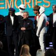 Giorgio Moroder, Nile Rodgers, Paul Williams, Pharrell Williams avec Thomas Bangalter et Guy-Manuel de Homem-Christo de Daft Punk aux Grammy Awards à Los Angeles le 26 janvier 2014.