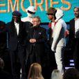 Giorgio Moroder, Nile Rodgers, Paul Williams, Pharrell Williams avec Thomas Bangalter et Guy-Manuel de Homem-Christo de Daft Punkaux Grammy Awards à Los Angeles le 26 janvier 2014.