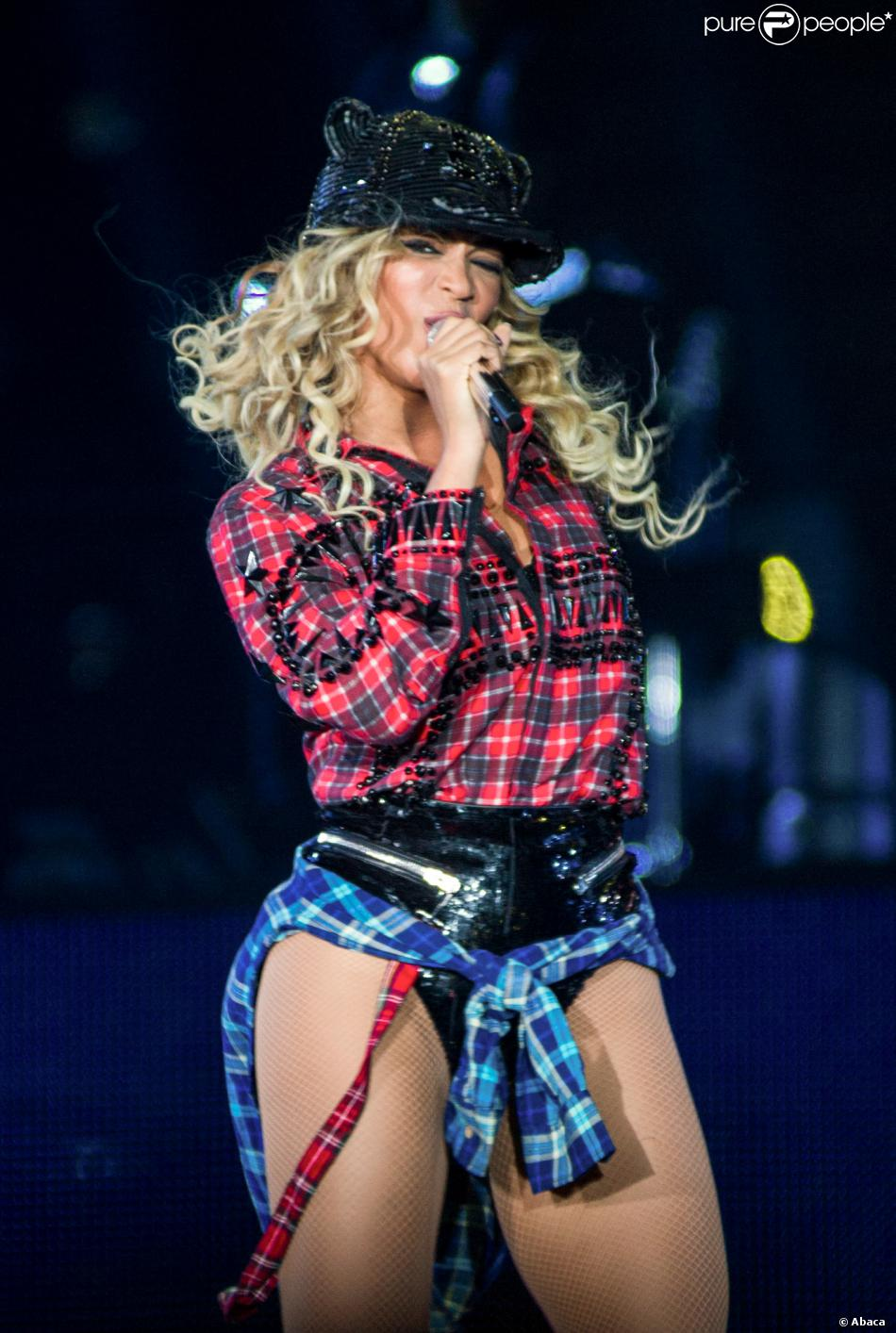 Beyoncé, en concert à la LG Arena à Birmingham, le 24 février 2014.