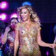 Beyoncé, radieuse sur la scène de la LG Arena à Birmingham, le 24 février 2014.
