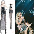 Beyoncé en Versace pour son Mrs Carter Show World Tour.