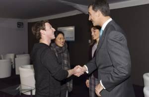 Letizia et Felipe d'Espagne : Rencontre hi-tech avec Mark Zuckerberg et sa femme