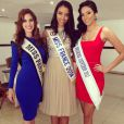 Flora Coquerel en compagnie de Virginia Hernandez, Miss Panama 2013, et Caroline Brid, Miss Panama 2014