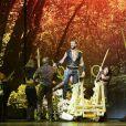 """Exclusif - Dernière représentation du spectacle """"Robin des Bois"""" au Palais des Congrès, à Paris, le 5 janvier 2014."""