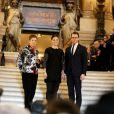 La princesse Victoria de Suède et son mari le prince Daniel ont visité l'Opéra Garnier à Paris en fin de matinée le 6 mars 2014.