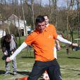 Roy Makaaylors de la première Footgolf Cup 2014 au golf de Feucherolles en France le 5 mars 2014.