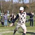 Romuald Pretot, Président de l'Association française de footgolflors de la première Footgolf Cup 2014 au golf de Feucherolles en France le 5 mars 2014.