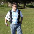 Hervé Mathouxlors de la première Footgolf Cup 2014 au golf de Feucherolles en France le 5 mars 2014.