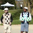 Romuald Pretot, Président de l'Association française de footgolf et Sidney Govoulors de la première Footgolf Cup 2014 au golf de Feucherolles en France le 5 mars 2014.