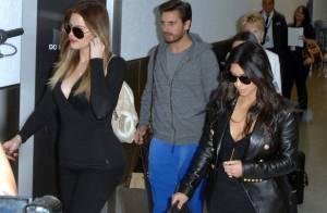Kim Kardashian : Sereine en famille, après un accident de voiture