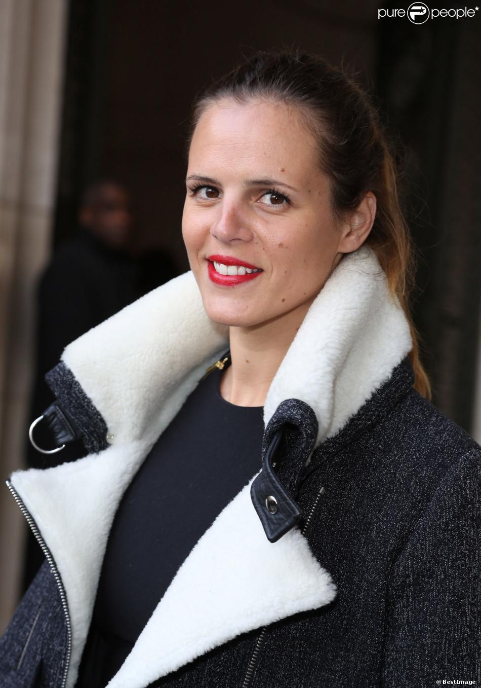 """Laure Manaudou - Arrivées des people au défilé de mode, collection prêt-à-porter automne-hiver 2014-2015 """"Guy Laroche"""" au Grand Palais à Paris."""