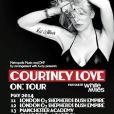 Courtney Love en tournée au printemps 2014 au Royaume-Uni.