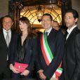 Paolo Bulgari, Jean Christophe Babin, Carla Bruni-Sarkozy, Ignazio Marino et Adrien Brody assistent au 130e anniversaire de la maison Bulgari le 20 mars 2014 à Rome