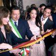 Jean-Christophe Babin, Carla Bruni-Sarkozy, Ignazio Marino, Shu Qi et Adrien Brody assistent au 130e anniversaire de la maison Bulgari le 20 mars 2014 à Rome