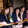 Jean-Christophe Babin, Carla Bruni-Sarkozy, Ignazio Marino, Shu Qi et Adrien Brody assistent au 130e anniversaire de la maison Bulgari à Rome le 20 mars 2014