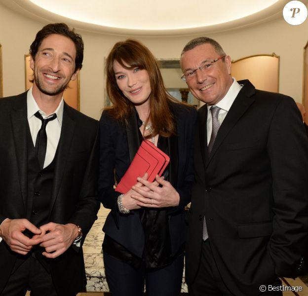 Adrien Brody, Carla Bruni, Jean-Christophe Babin - 130e anniversaire de Bulgari à Rome en Italie le 20 mars 2014.