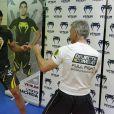 Cyril Viguier en combat avec Lyoto Mashida