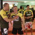 Cyril Viguier à l'entraînement avec Vanderlei Silva