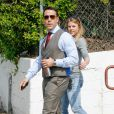 Jeremy Piven sur le tournage du film Entourage à Los Angeles le 4 mars 2014