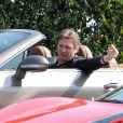 Liam Neeson sur le tournage du film Entourage à Los Angeles le 25 février 2014