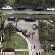 Vue générale des obsèques de L'Wren Scott au cimetière Hollywood Forever à Hollywood, le 25 mars 2014.