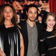 """Marine Sainsily, Kim Chapiron et Alice Isaaz à la première du film """"La crème de la crème"""" à Paris le 27 mars 2014."""