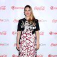Drew Barrymore enceinte et habillée en Marc Jacobs au CinemaCon 2014, Caesars Palace, Las Vegas, le 27 mars 2014.