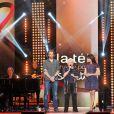 Aymeric Caron, Line Renaud et Nolwenn Leroy enregistrent l'émission du Sidaction 2014, les 24 et 25 mars 2014 au théâtre Mogador à Paris (diffusion le 5 avril 2014).