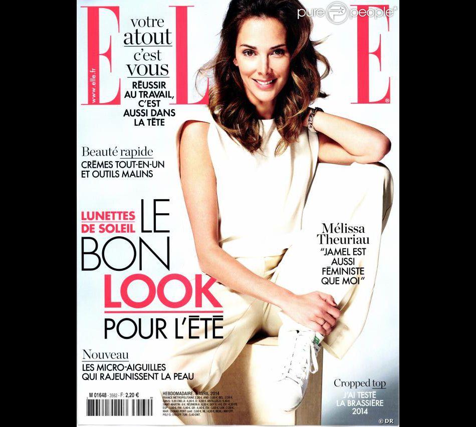 Mélissa Theuriau en couverture de Elle