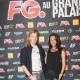 Christophe Guillarmé et Karine Lima à la soirée annuelle organisée par Radio FG au Grand Palais, à Paris, le jeudi 3 avril 2014.