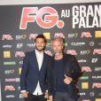 Julien et Ben (Secret Story 7) à la soirée annuelle organisée par Radio FG au Grand Palais, à Paris, le jeudi 3 avril 2014.