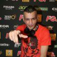 Le DJ Hakimakli à la soirée annuelle organisée par Radio FG au Grand Palais, à Paris, le jeudi 3 avril 2014.