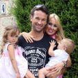 """"""" Exclusif - Carlos Moya fête son 37e anniversaire avec sa femme Carolina Cerezuela et ses enfants Carlos et Carla à Majorque en Espagne le 27 août 2013. """""""