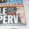 Les journaux américain font leur Une avec l'affaire DSK. Le 15 mai 2011.
