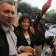Dominique Strauss-Kahn et sa femme Anne Sinclair arrivent à leur domicile parisien le 4 septembre 2011.