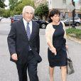 Dominique Strauss-Kahn et sa femme Anne Sinclair retournent à leur maison de Washington DC. Le 29 août 2011.