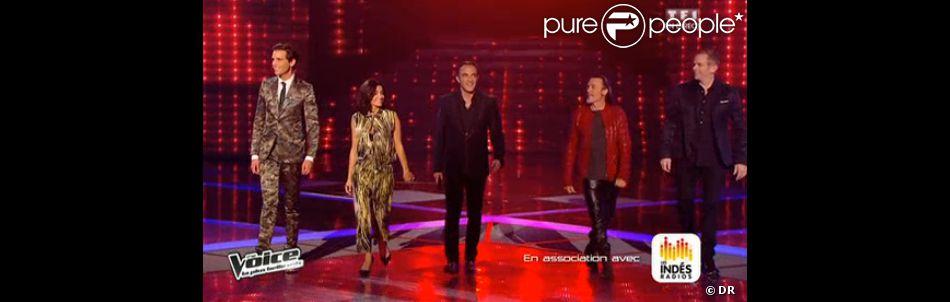 Jenifer très lookée en Kenzo dans The Voice 3, le samedi 12 avril 2014 sur TF1